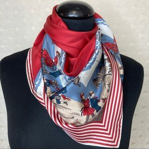 Anne Marie French Provencal Silk Scarf Square